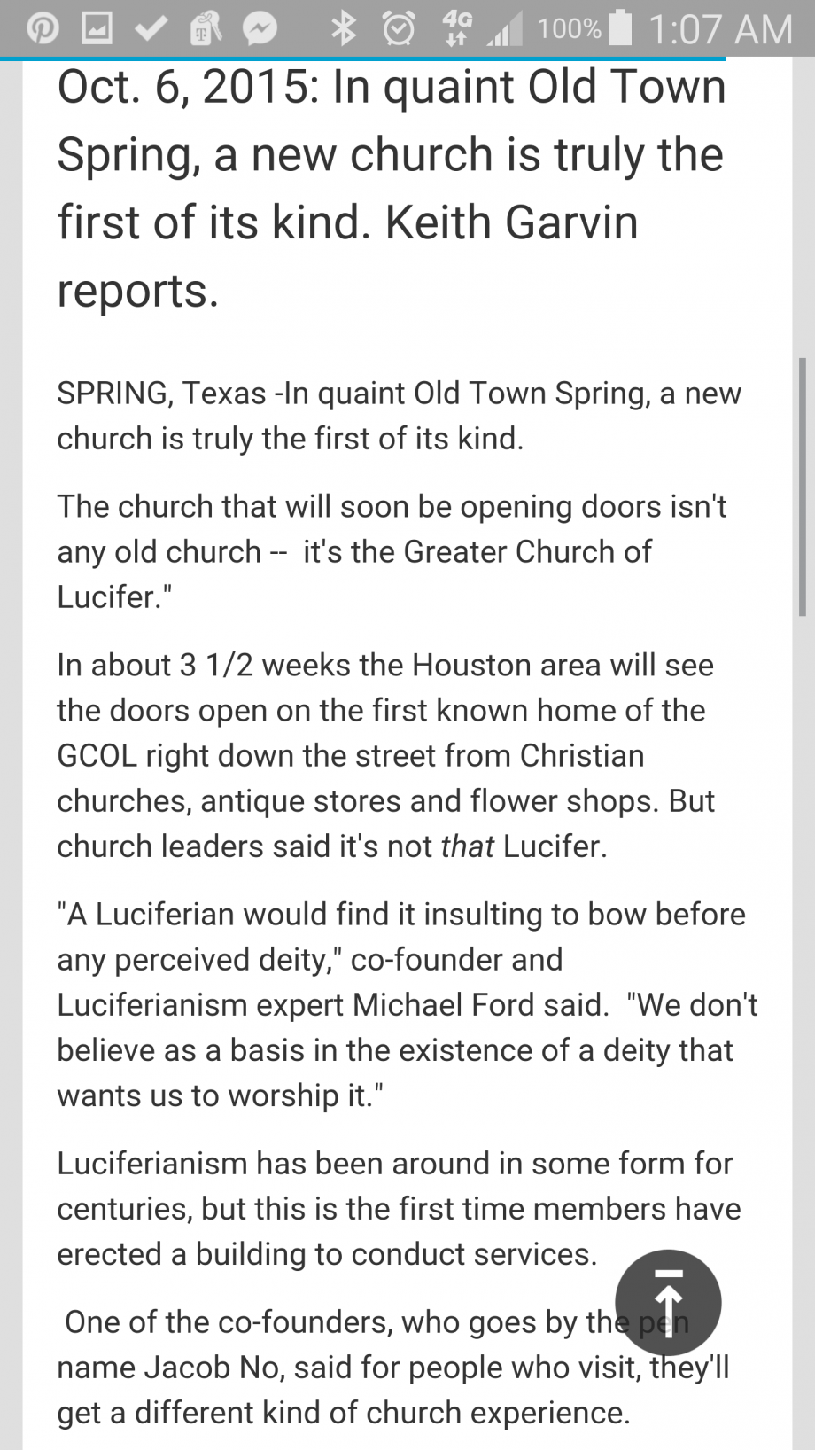 Luciferian Church in old Town Spring - Petitions24.com